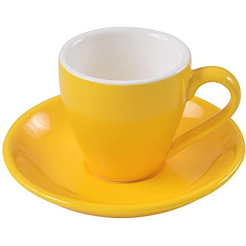 ionEgg Espressotasse mit Untertasse, Porzellan, 80 ml, Gelb