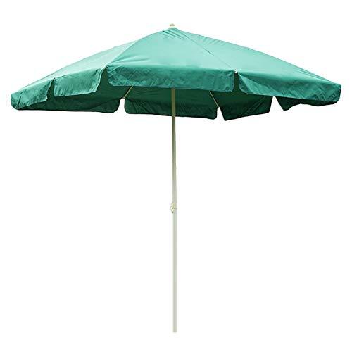 HWF Sombrilla Rectangular Sombrilla de Patio, 8 × 6 pies Paraguas de Mesa de Mercado al Aire Libre para jardín/césped/terraza/Patio/Piscina, Protección UV 50+, Verde