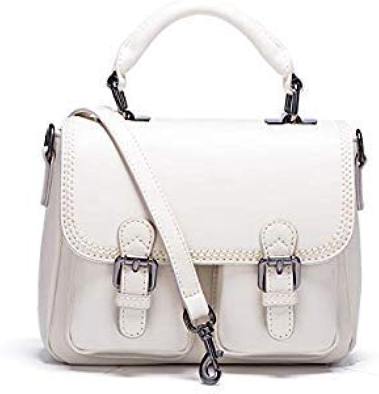 Bloomerang MC Fashion Women Handbag Tote Crossbody Bag Female TopHandle Bags Famous Brands Split Leather Handbags Vintage Shoulder Bag color White Women Bag Long23cmWidth17cm