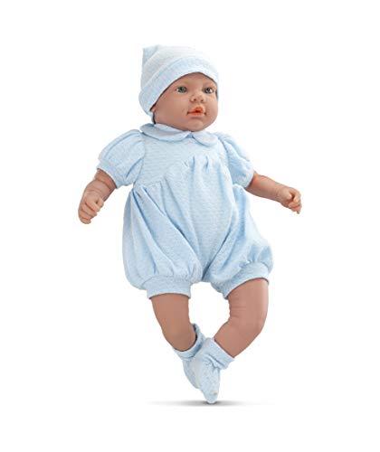 Boneca Bebê Real - Azul Roma Jensen Boneca Branca