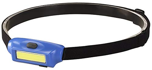 Streamlight 61704 Bandit 180-Lumen Rechargeable LED Headlamp With USB Cord, Hat Clip & Elastic Headstrap, White LED, Blue