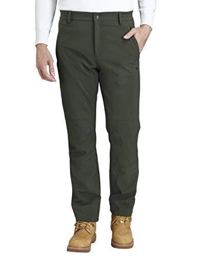 CAMEL CROWN Pantalones Trekking Acampada Impermeables Softshell Pantalones para Hombre Senderismo Montaña Escalada