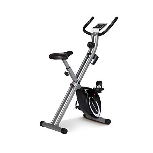 Ultrasport - Cyclette F-Bike Advanced, modello pieghevole da casa, con display LCD, livelli di resistenza regolabili e sensori per la misurazione del battito cardiaco, ideale per sportivi e anziani