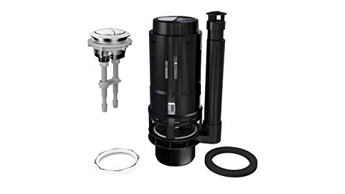 """R&T A2422M 3"""" Dual Flush Valve with Push Button, Dual Flush Toilet Repair Kit, Toilet Tank Parts Replacement for 2-piece Toilet, Easy to Install, High Performance, Water-Saving"""