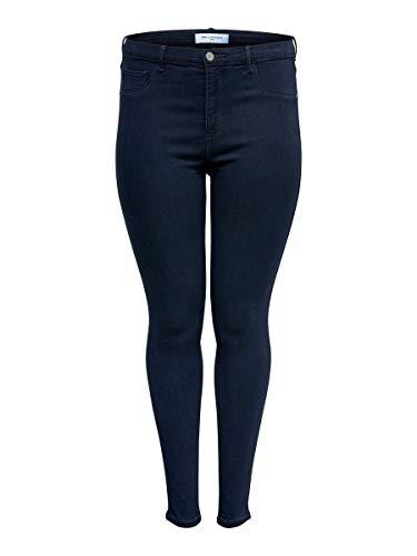 ONLY Carmakoma Female Skinny Fit Jeans Curvy CARstorm Push up hw 48Dark Blue Denim
