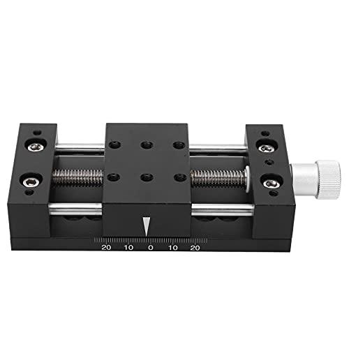 Plataforma deslizante horizontal, dispositivos industriales ligeros Ejes X Plataforma de ajuste fino manual para equipos ópticos