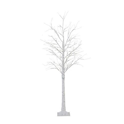 Lámpara de pie Lámpara de pie Led Lámpara de árbol de abedul creativa moderna Lámpara estándar USB Lámpara de decoración de estilo bonsai Dormitorio Sala de estar Luz de Pie (Color : White)