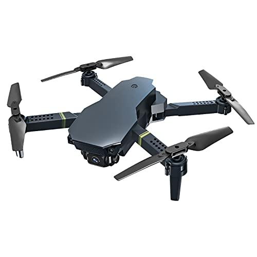 FDSGEWW Drone Pieghevole con Telecamera 720P WiFi Quadricottero con Telecomando a Trasmissione in Tempo Reale con 3.7V 1800mAh Indoor Outdoor Nero