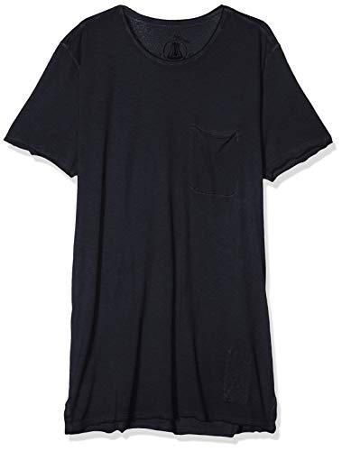 Herrlicher Herren Ronny Single T-Shirt, Blau (Deep Sea 440), Medium (Herstellergröße: M)