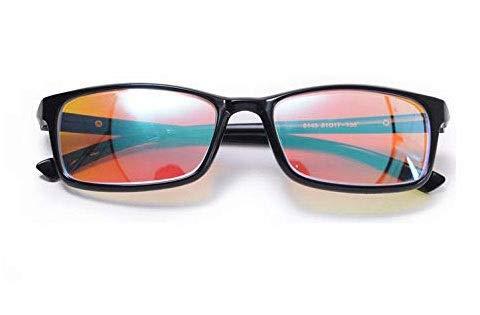 Zryh Objektive Beide Außenbereich Innenbereich Farbenblinde Brillen for Rot Grün Farbenblindheit Vollschwarzer Rahmen Brillen Formelle Anlässe