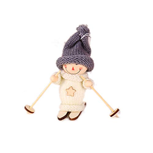 Christmas Decoration Tree Hanging Pendant Christmas Ski Doll Pendant Christmas Decoration for Home Xmas Christmas Tree Ornaments Decorations Kids Gift Natal (Color : Grey Hat Snowman)
