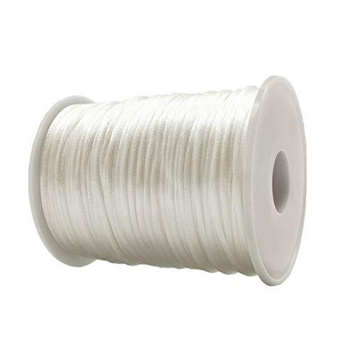 Cuerda De Cola De Ratón Nylon Cord 1.5mm 90 Yard Kumihimo Cord Seda De Satén Cordón DIY Abalorios Cuerda Hilo Cording
