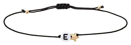 Armband Sternenkind Buchstabe Initialen Namensarmband Engel größenverstellbar