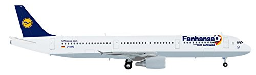 Herpa 556750 - Lufthansa Airbus A321 Fanhansa