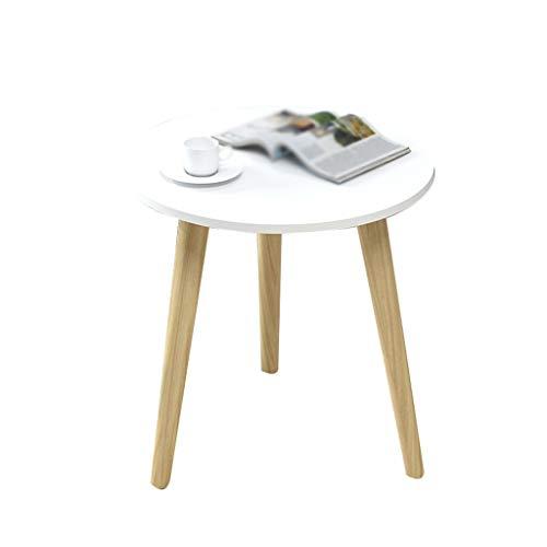 Table Family CSQ driehoekige tafel, balkon slaapkamer kleine salontafel met opbergruimte opslag Rack massief houten tafelpoten diameter 40-60 cm
