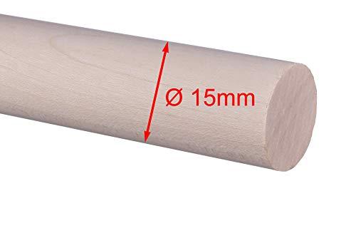 Rundstab Rundholz europ.Ahorn Treppensprosse Durchmesser 15mm, 20mm, 25mm, 30mm (Ø 15mm)