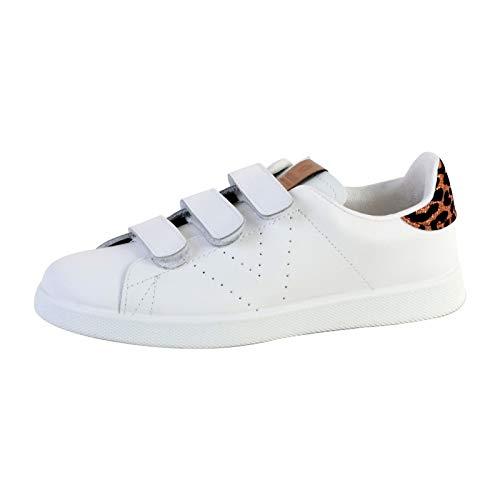 Victoria Tenis Velcros Piel/Leopardo, Zapatillas Unisex Adulto, Dorado (Bronze 76), 42 EU