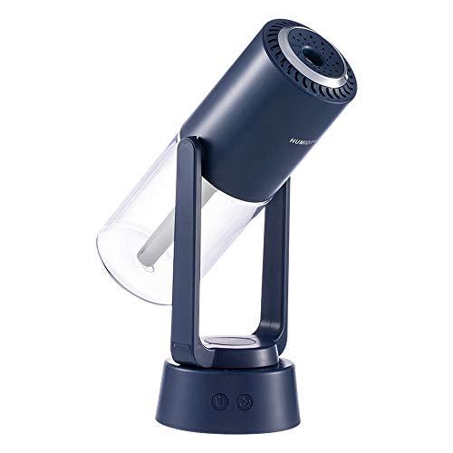 bobotron Humidificador de aire Xuanying, humidificador de aromaterapia giratorio, con iones negativos y lámpara, adecuado para la oficina y el hogar, color azul oscuro