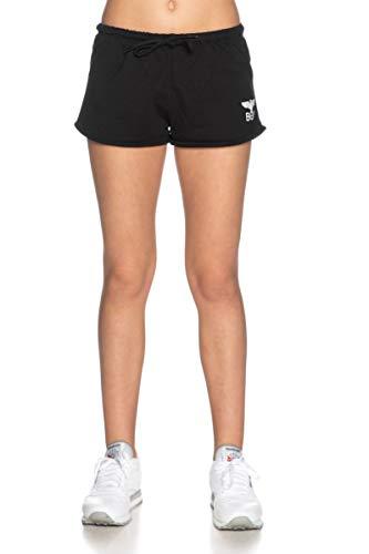 BOY LONDON Shorts Donna Nero in Felpa Stampa con Logo BLD2235 S