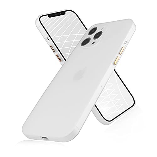 Compatible with iPhone 12 pro max Case, peafowl Ultra-Thin Soft Full Coverage Protective Liquid Silicone Cell Phone Case for iPhone 12 Pro Max White (6.7 inch)