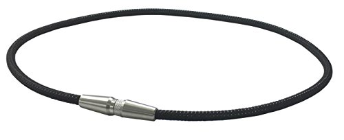 【Amazon.co.jp限定】 ファイテン(phiten) ネックレス RAKUWA ネックX50 AG ローレット ブラック/ブラック 50cm アクアゴールド×アクアチタンX50 含浸スペシャルモデル