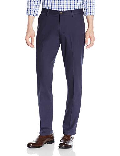 Goodthreads Straight-Fit Wrinkle-Free Dress Chino Pant Pantaloni, Blu (Navy), W29/L34 (Taglia Produttore: 29W x 34L)