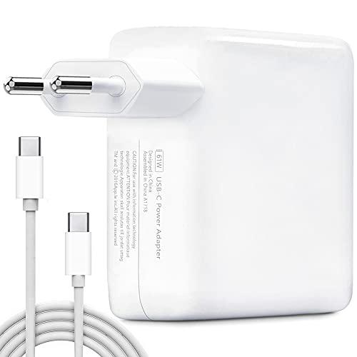 Cargador USB C, HUMTOOL 61W USB C Adaptador para Mac Book Pro, Cargador Tipo C de 61W incluye cable USB C Compatible con Mac Book Air/Pro/Retina, iPad Pro, iPhone 11/11 Pro/Pro Max, HUAWEI, SAMSUNG