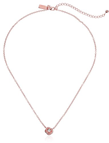 """kate spade new york """"Infinity and Beyond"""" Clear/Rose Gold Knot Mini Pendant Necklace, 17"""" + 3"""" Extender"""