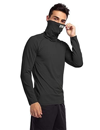 Cabeen Men's Compression Mask Shirt Long Sleeve Gym Quick Dry Thermal Base Layer Top For Sports Running Fitness Workout