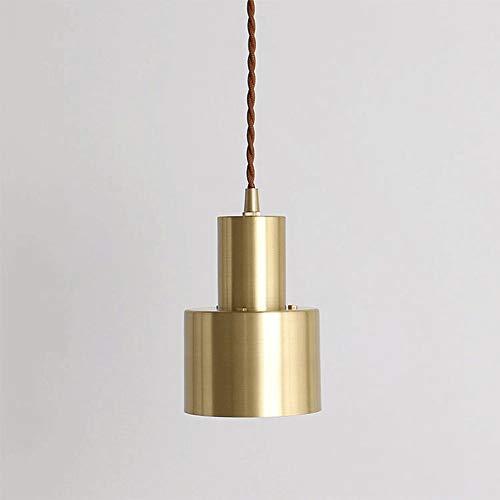 Flexión de la luz colgante de techo simple, Flex trenzada trenzada roja claro, soporte de lámpara E27 suspendida colgante de iluminación de iluminación Acabado de latón AC110V - 240V [Clase de energía