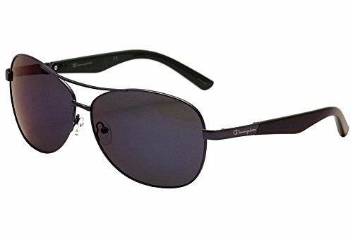 Herren Matte Gunmetal Metalllegierung ovale Sonnenbrille