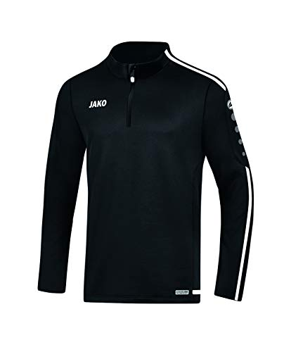 JAKO Herren Striker 2.0 Trainingsziptop, schwarz/Weiß, L