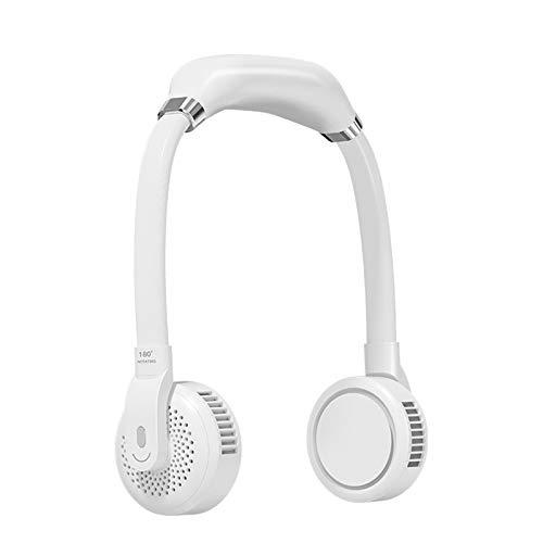 Timagebreze Ventiladores de Cuello Colgantes Sin Hojas USB Ventilador PortáTil de BateríA Recargable de 2000 Mah