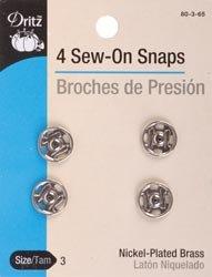 Dritz - Broches para coser (níquel, tamaño 3, 4/paquete, 80 3 65)