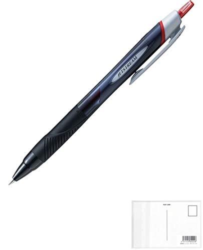 三菱鉛筆 油性ボールペン ジェットストリーム スタンダード 0.38mm mm赤 SXN-150-38 【5本】 + 画材屋ドットコム ポストカードA