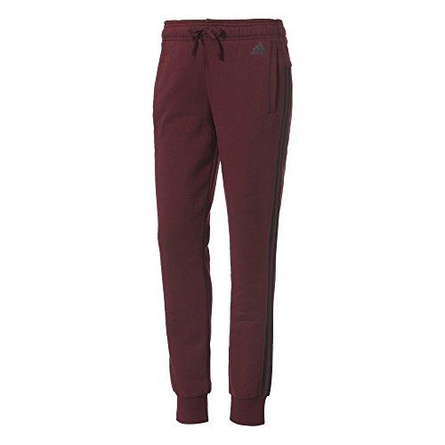 adidas Essentials - Pantaloni Uomo, 3 Strisce, Donna, Essentials 3-Stripes, Marrone/Nero, L