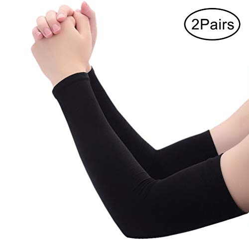 HAOPING Arm Sleeve Warmers Cycling UV Protection Compression Running Football Basketball Sun Protection Arm Sleeves Arm Warmer Mens Black//White 1/Pair