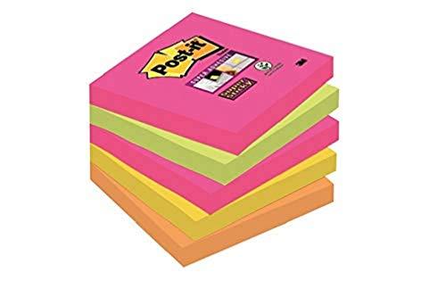 Post-it, Farbige Haftnotizen, Selbstklebende Sticky Notes, Klebezettel und Haftnotizzettel in der Cape Town Kollektion, Notizzettel für Büro und Studenten, 5 Blöcke à 90 Post-Its, 76 x 76 mm