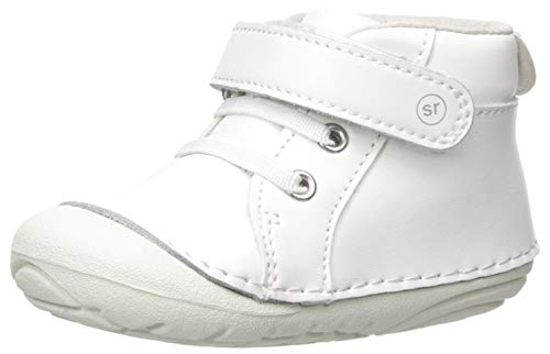 Stride Rite Baby-Boy's Soft Motion Frankie Athletic Sneaker, White, 5 W US Toddler