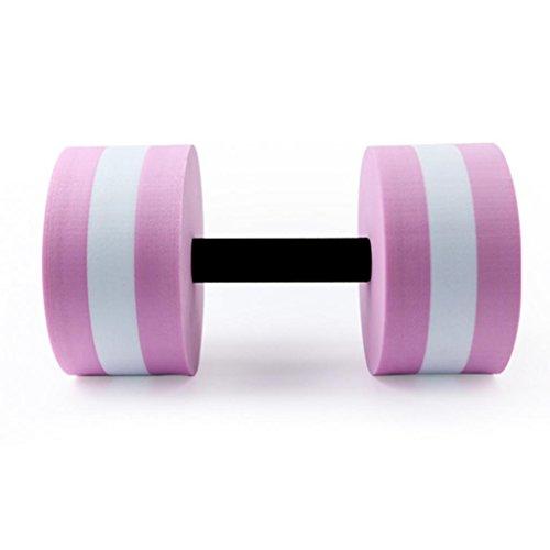 Sukisuki 1Pc Water Aerobics Aquatic Exercise Dumbbells (Pink)