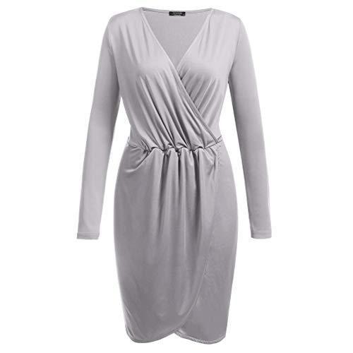 Gebreide jurk met lange mouwen, geplooide taillejurk, lente en zomer dames casual sportjurk