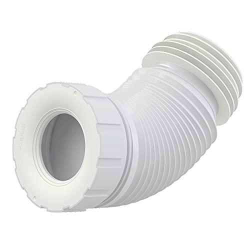 WC-Anschluß Abfluß weiß weiss WC-Abfluß Länge von 200 bis 520 flexibel TOP Abflussrohr