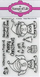 Elves Christmas Stamps for Card-Making and Scrapbooking Supplies by The Stamps of Life - Elves2Stamp