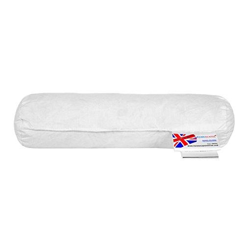 Homescapes Nackenrolle, 30 x 9 cm, Nackenkissen mit 100% Entenfeder-Füllung, ideal als Reisekissen, Lesekissen oder Schlafkissen, natürliches Federkissen