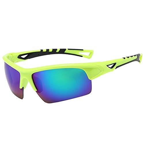 JFSZZ Gafas unisex para montar a caballo, carreras, ciclismo, deportes HD UV400 Mtb para bicicleta al aire libre, bicicleta de carretera, bicicleta de montaña (color: verde)