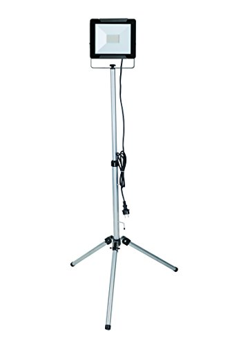 Electraline 63440. Lampe Strahler LED auf Stativ, 50W, grau, 2.5m