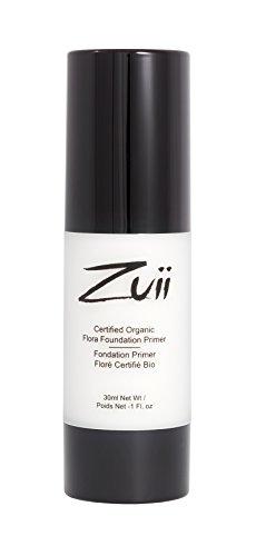Base de teint - Certifié biologique - Formule naturelle - Texture légère, hydratante, transparente et matifiante - Appliquez avant le maquillage - Pour rehausser votre beauté - Bouteille de 30 ml - par Zuii Organic.