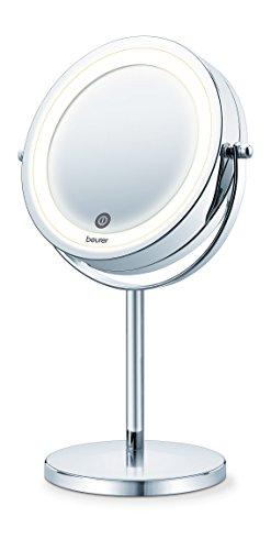 specchio trucco homedics Beurer BS 55 Specchio Cosmetico Illuminato con Doppia Superfice Riflettente