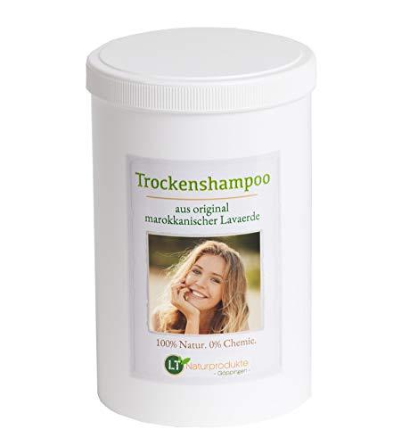Trockenshampoo mit original marokkanischer Lavaerde | Vegan und Bio | zur chemiefreien Haarwäsche | Tonerde Heilerde Wascherde Tonpulver Anti-Schuppen Sensitive