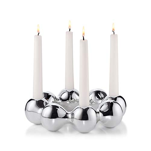 Philippi Pearl Kerzenständer, Silber, 23 cm